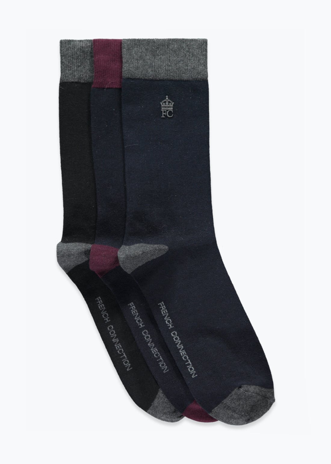 3 Pack French Connection Socks