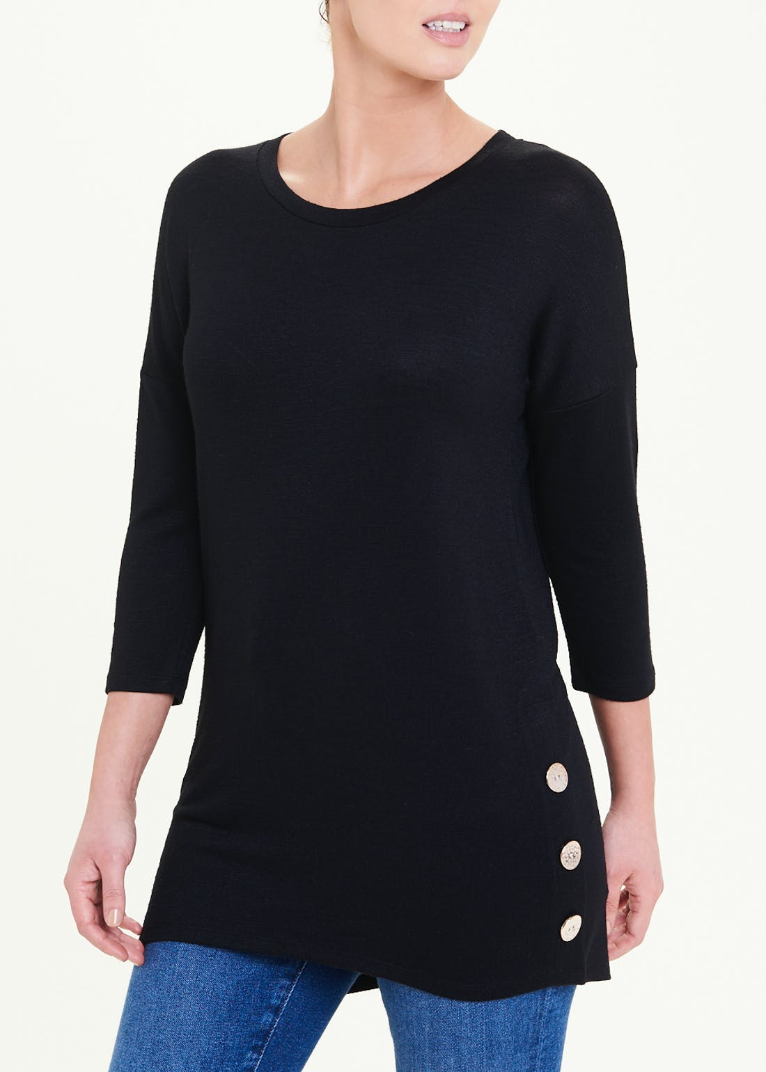 Oversized Side Button Top