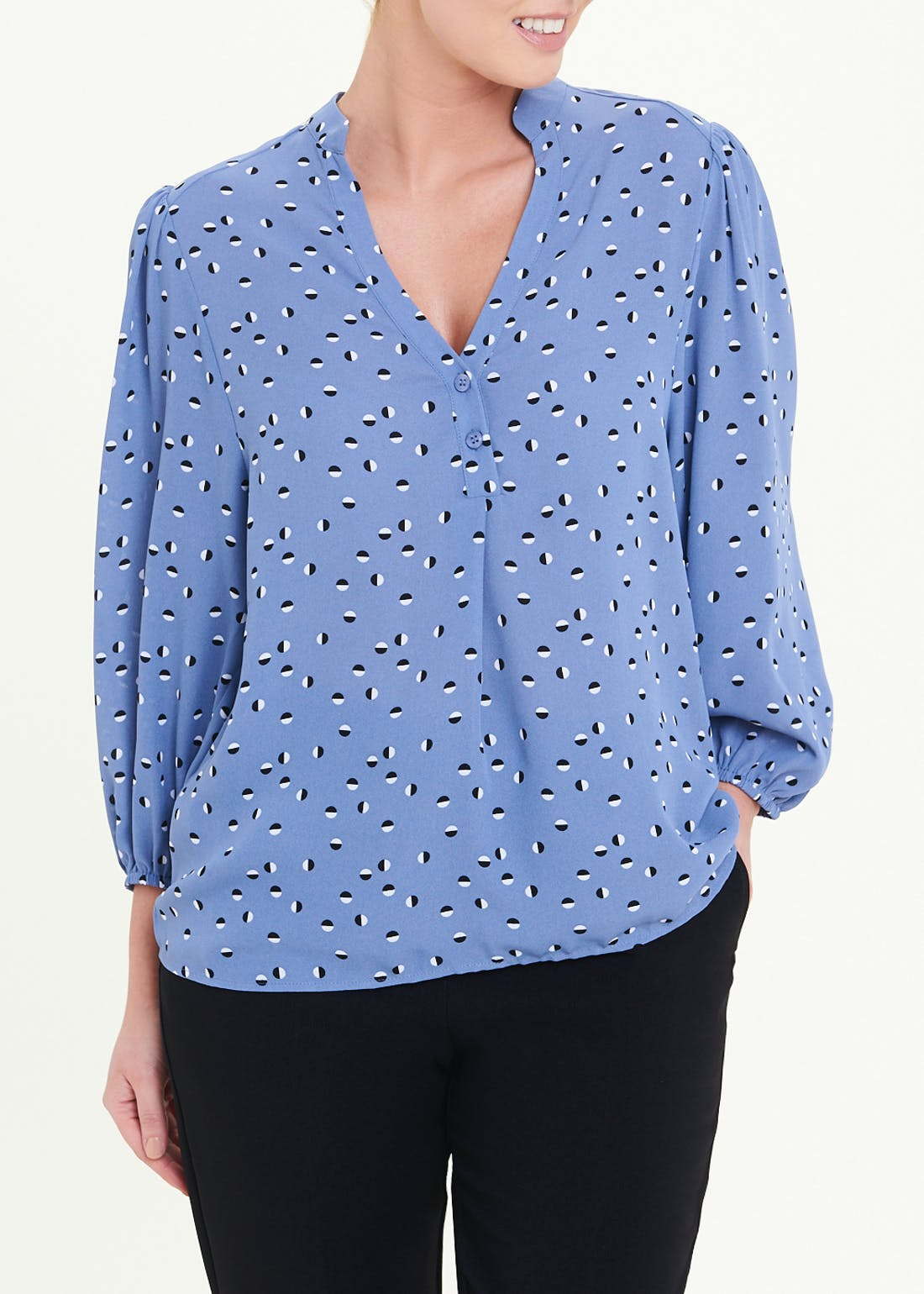 Printed Button Front Box Top