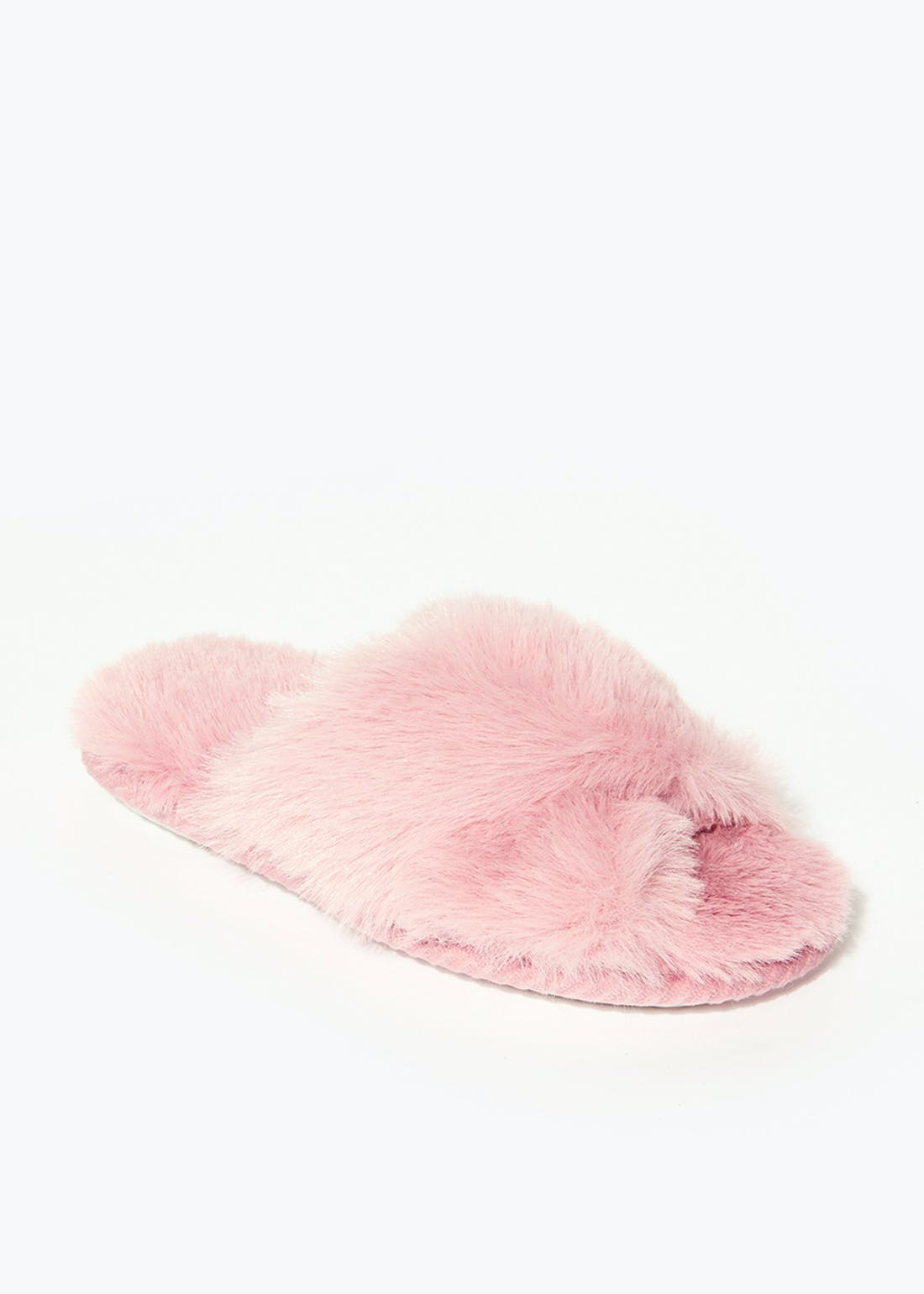 Girls Pink Fluffy Slippers (Younger 10-Older 5)