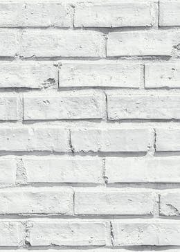 Arthouse White Brick Wallpaper (10.05m x 53cm)