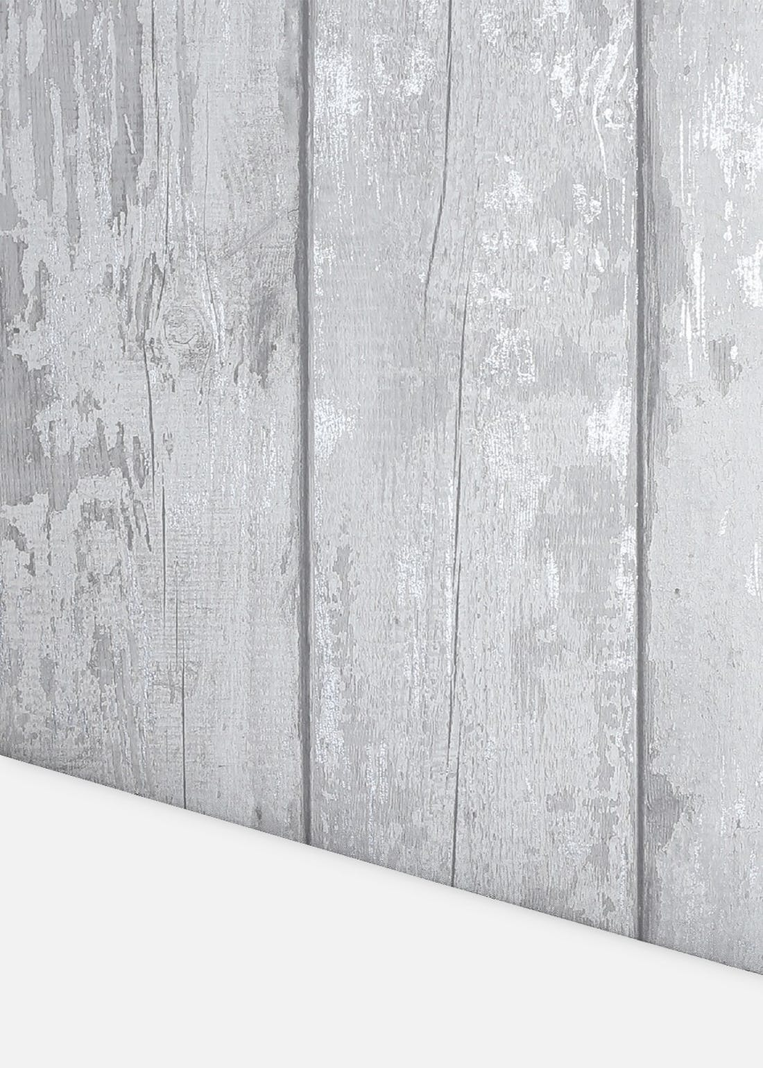 Arthouse Metallic Wash Wood Grey Wallpaper (10.05m x 53cm)