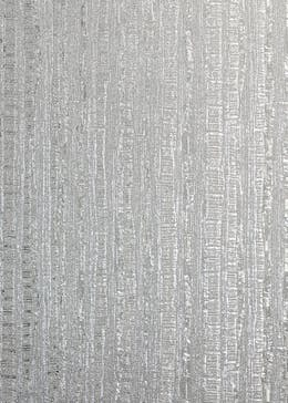 Arthouse Luxe Industrial Stripe Silver Wallpaper (10.05m x 53cm)