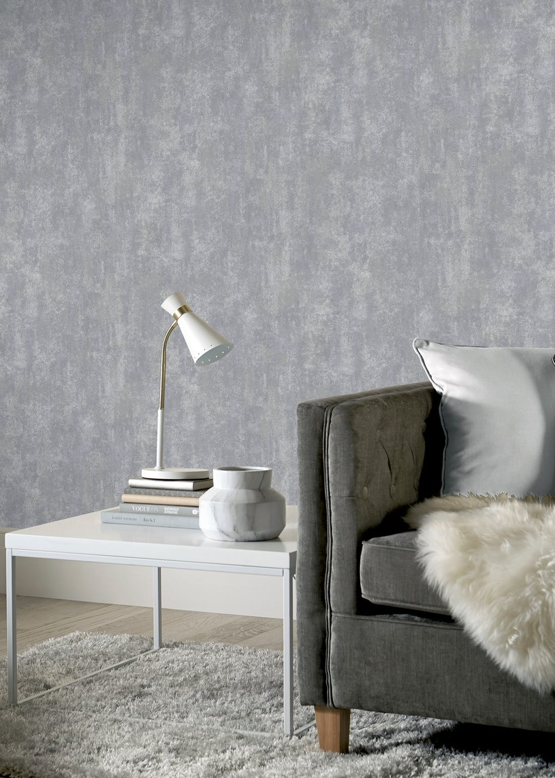 Arthouse Stone Texture Charcoal Wallpaper (10.05m x 53cm)