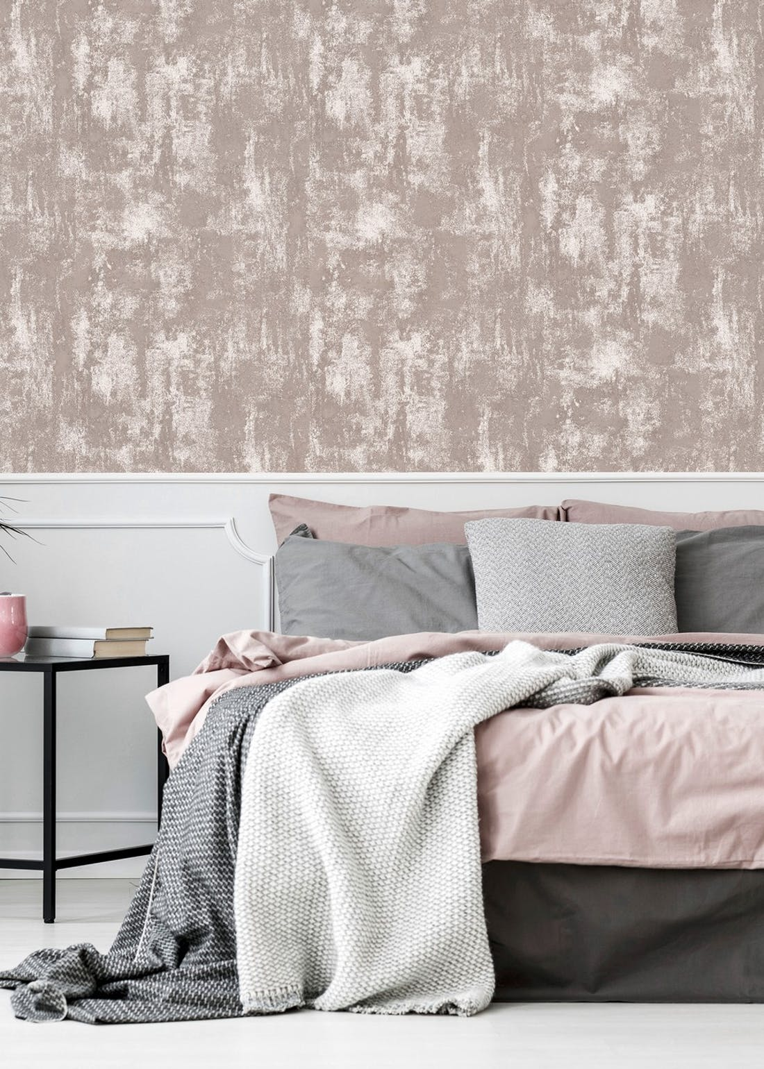 Arthouse Blush Textured Stone Wallpaper (10.05m x 53cm)