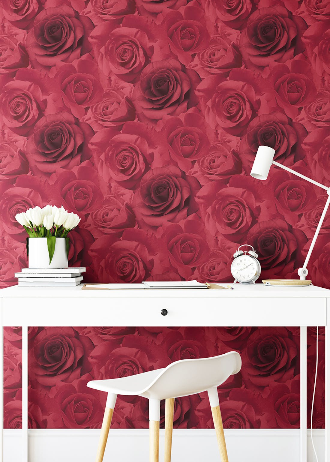 Muriva Madison Floral Red Wallpaper (10.05m x 53cm)