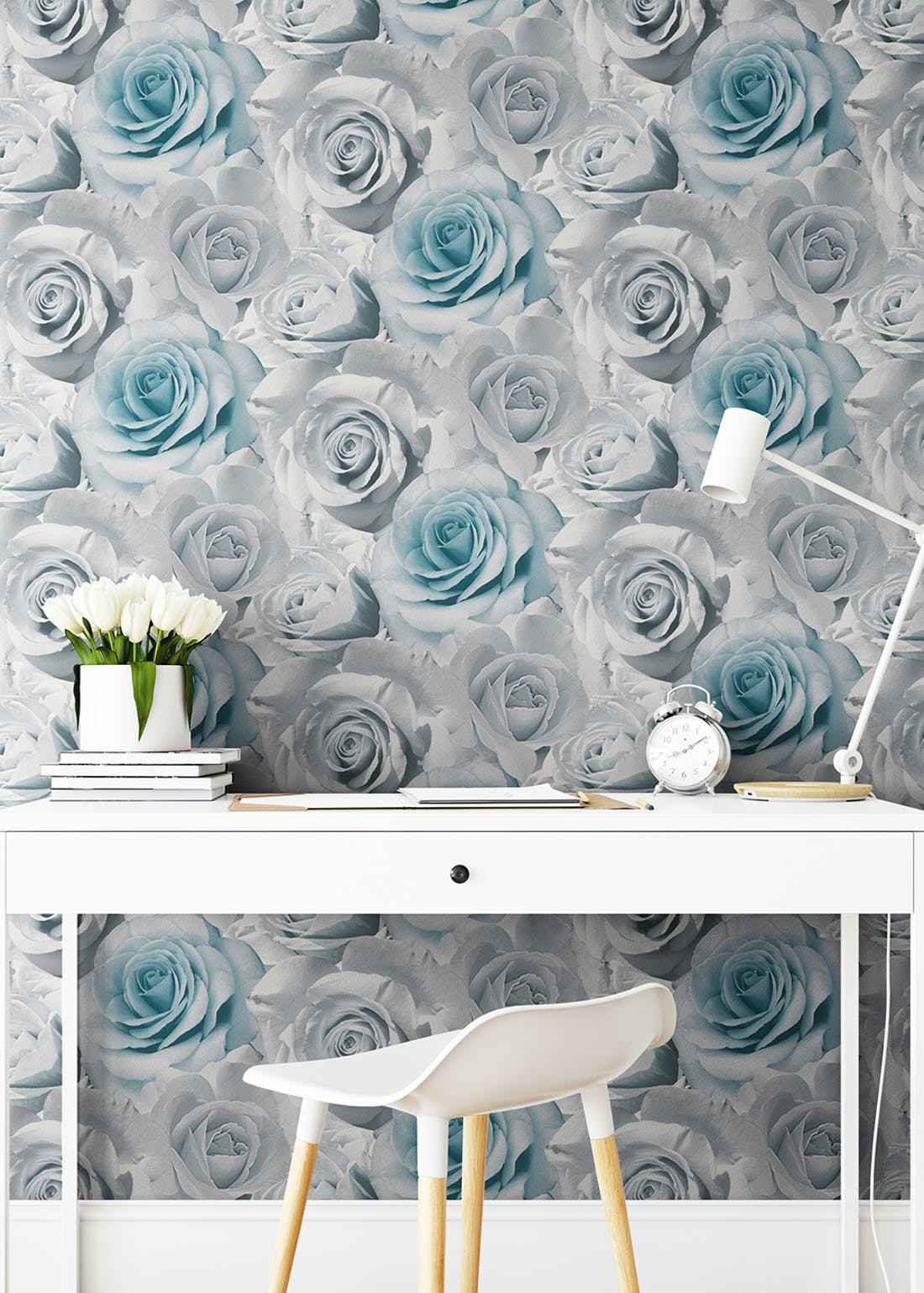 Muriva Madison Floral Blue Wallpaper (10.05m x 53cm)