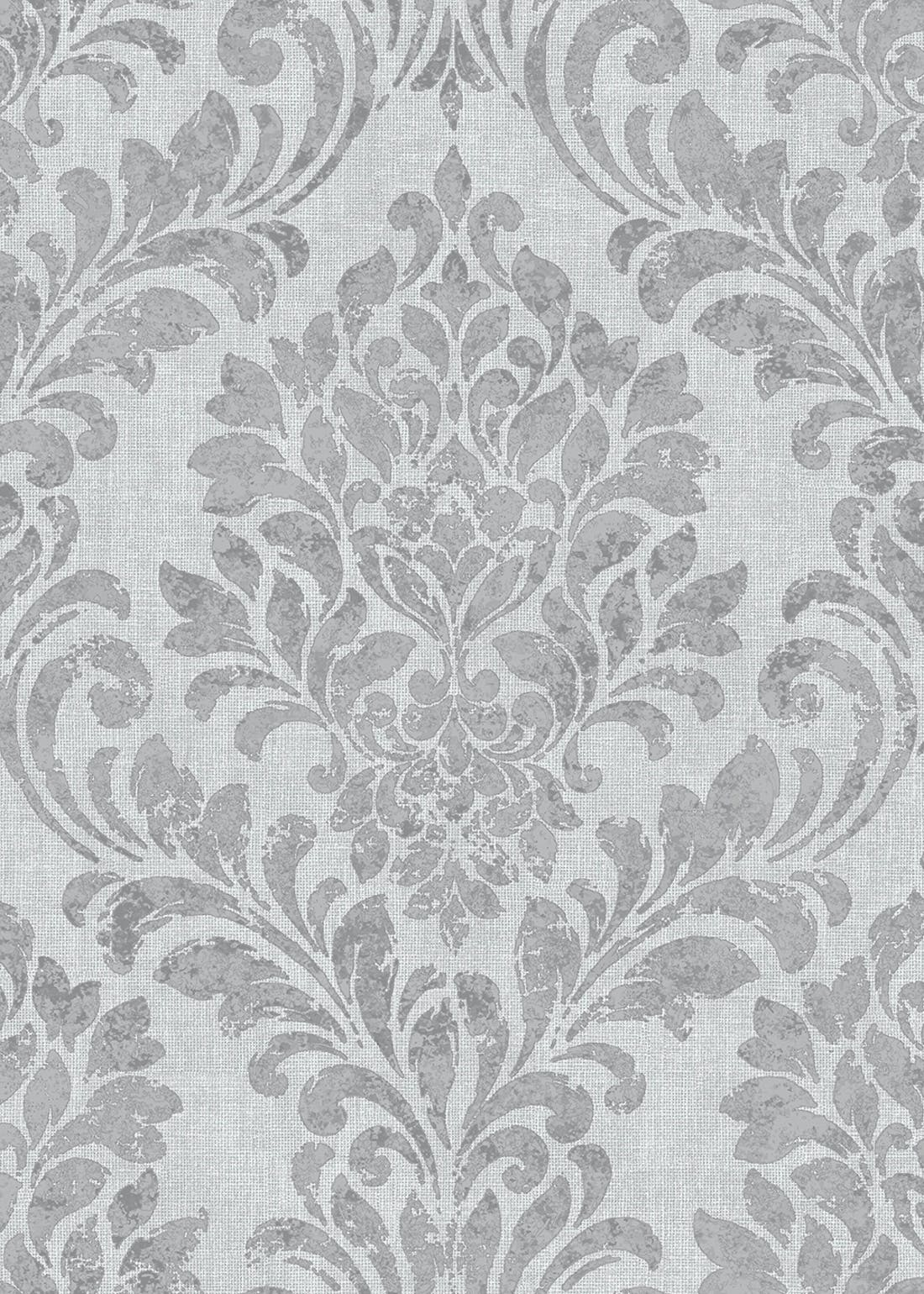 Darcy James Grey El Damask Wallpaper (10.05m x 53cm)