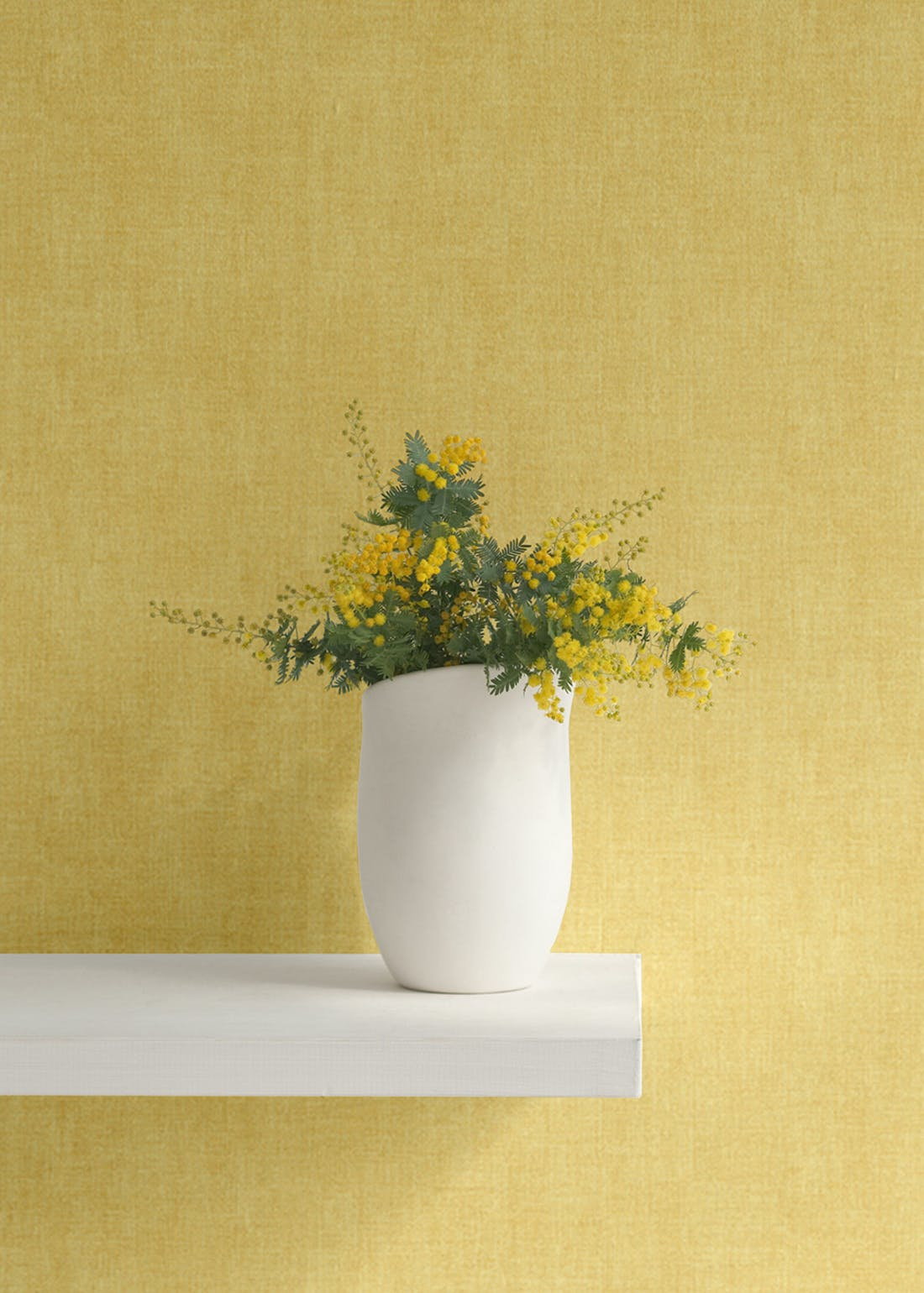 Darcy James Ochre Linen Texture Wallpaper (10.05m x 53cm)