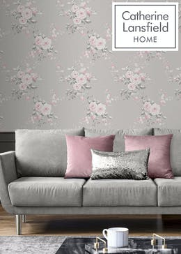 Catherine Lansfield Canterbury Floral Wallpaper (10.05m x 53cm)