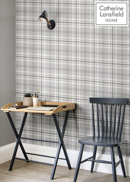Catherine Lansfield Kelso Check Wallpaper (10.05m x 53cm)