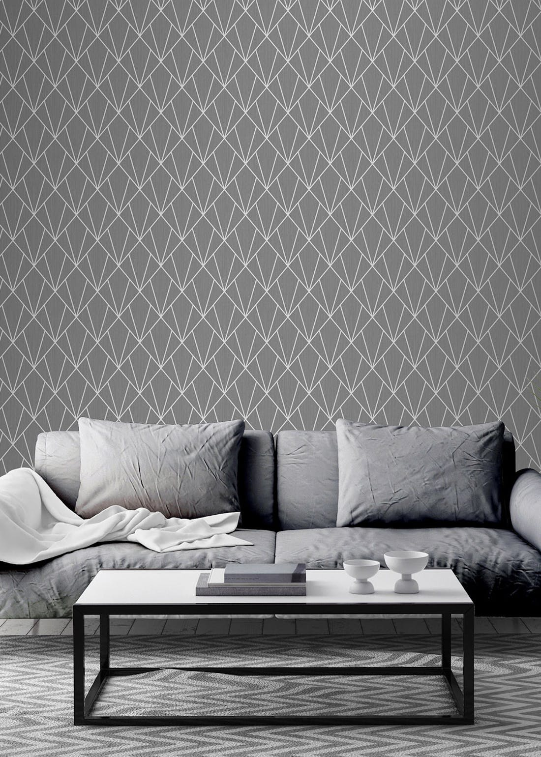 Muriva Indra Charcoal Wallpaper (10.05m x 53cm)