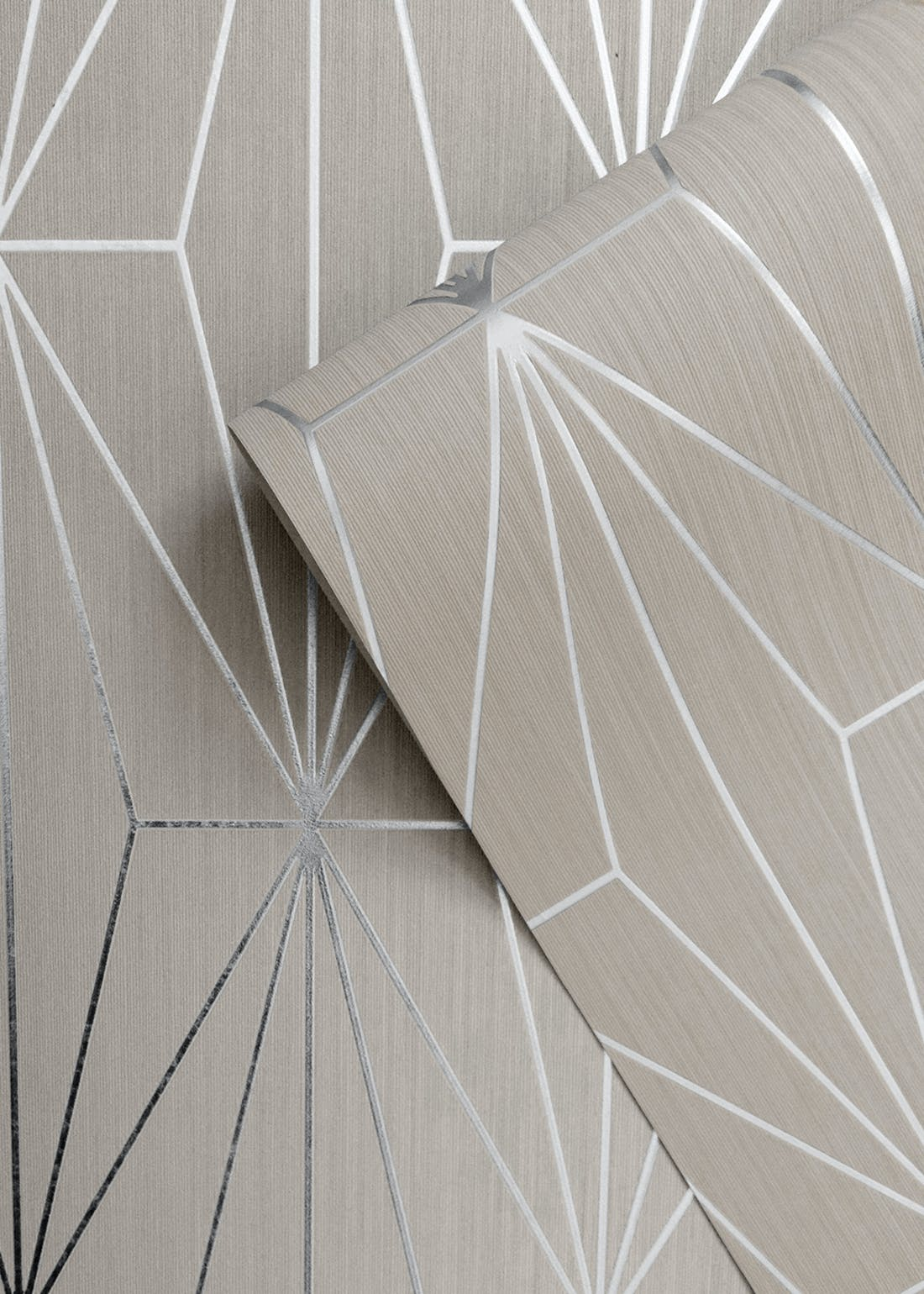 Muriva Couture Kayla Fawn Silver Foil Wallpaper (10.05m x 53cm)