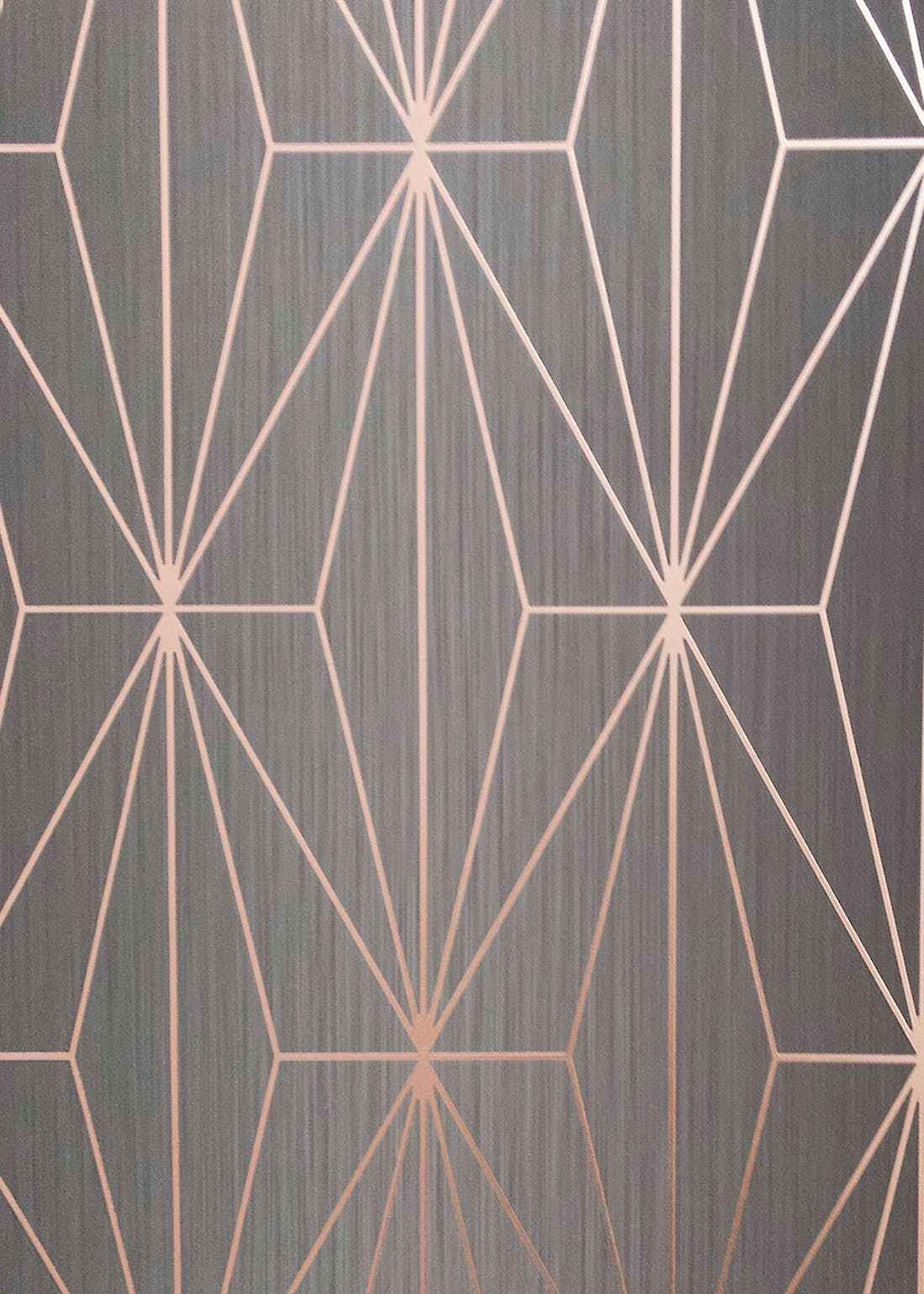Muriva Couture Kayla Charcoal Rose Foil Wallpaper (10.05m x 53cm)