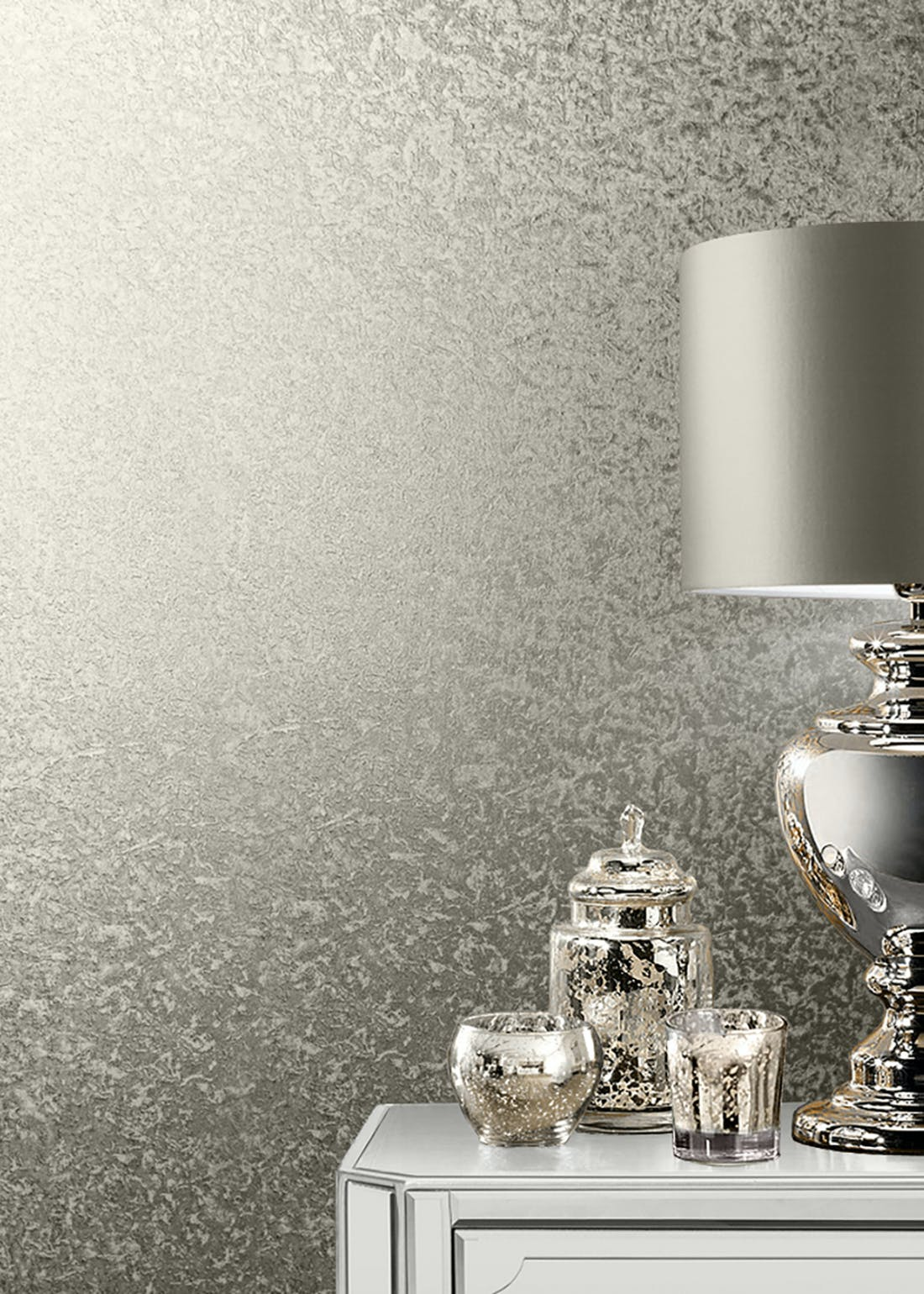 Muriva Couture Champagne Crushed Velvet Foil Wallpaper (10.05m x 53cm)