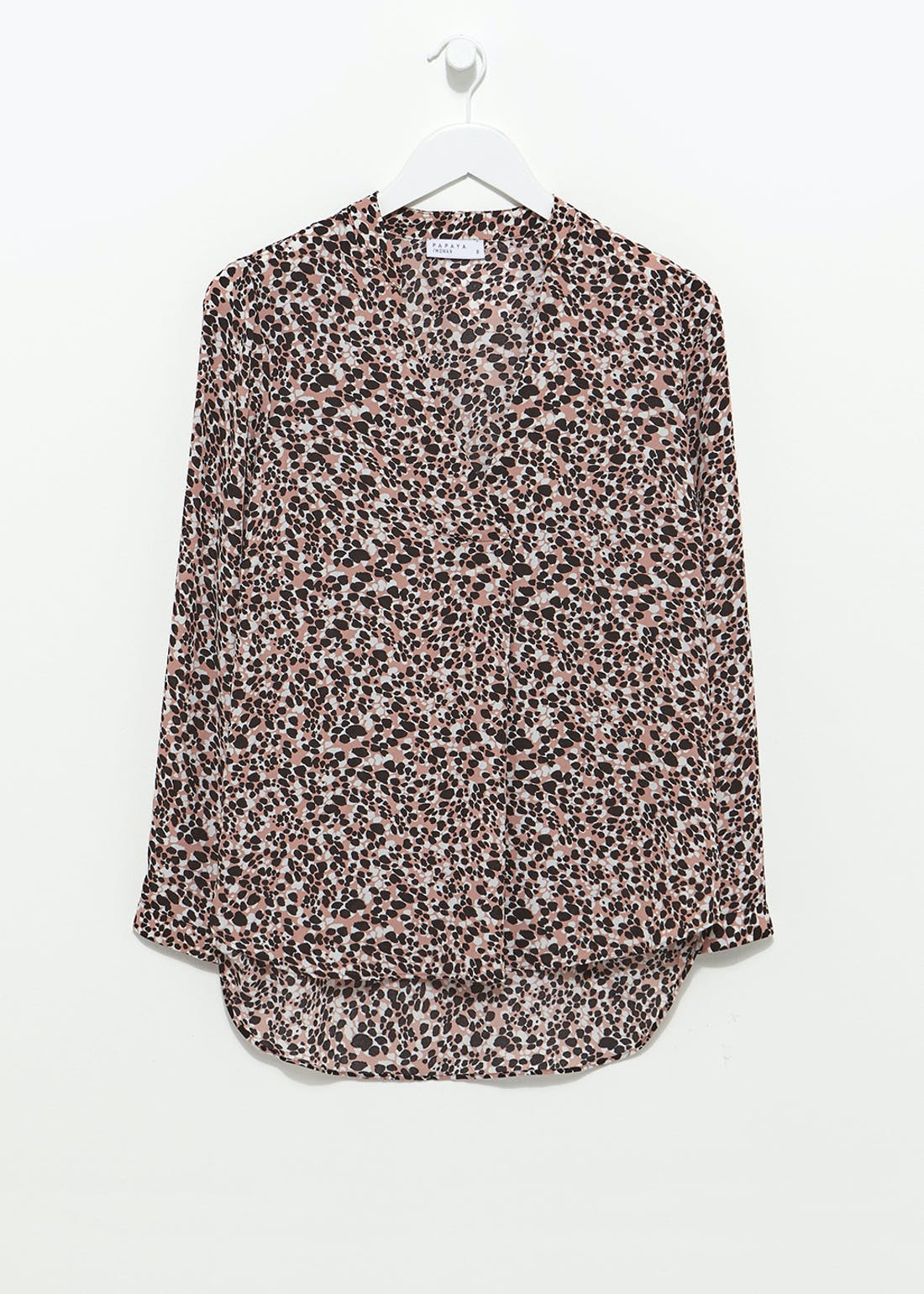 Longline Animal Print Blouse