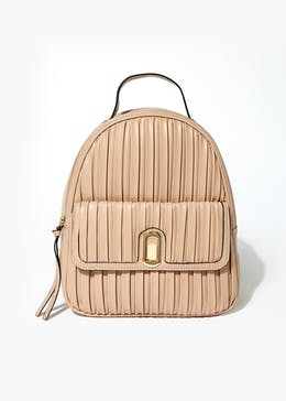Pink Pleated Backpack