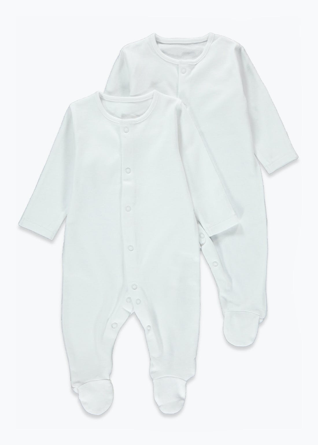 Unisex 2 Pack Organic Cotton Baby Grows (Tiny Baby-12mths)