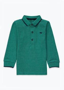 Boys Long Sleeve Knitted Polo Shirt (9mths-6yrs)