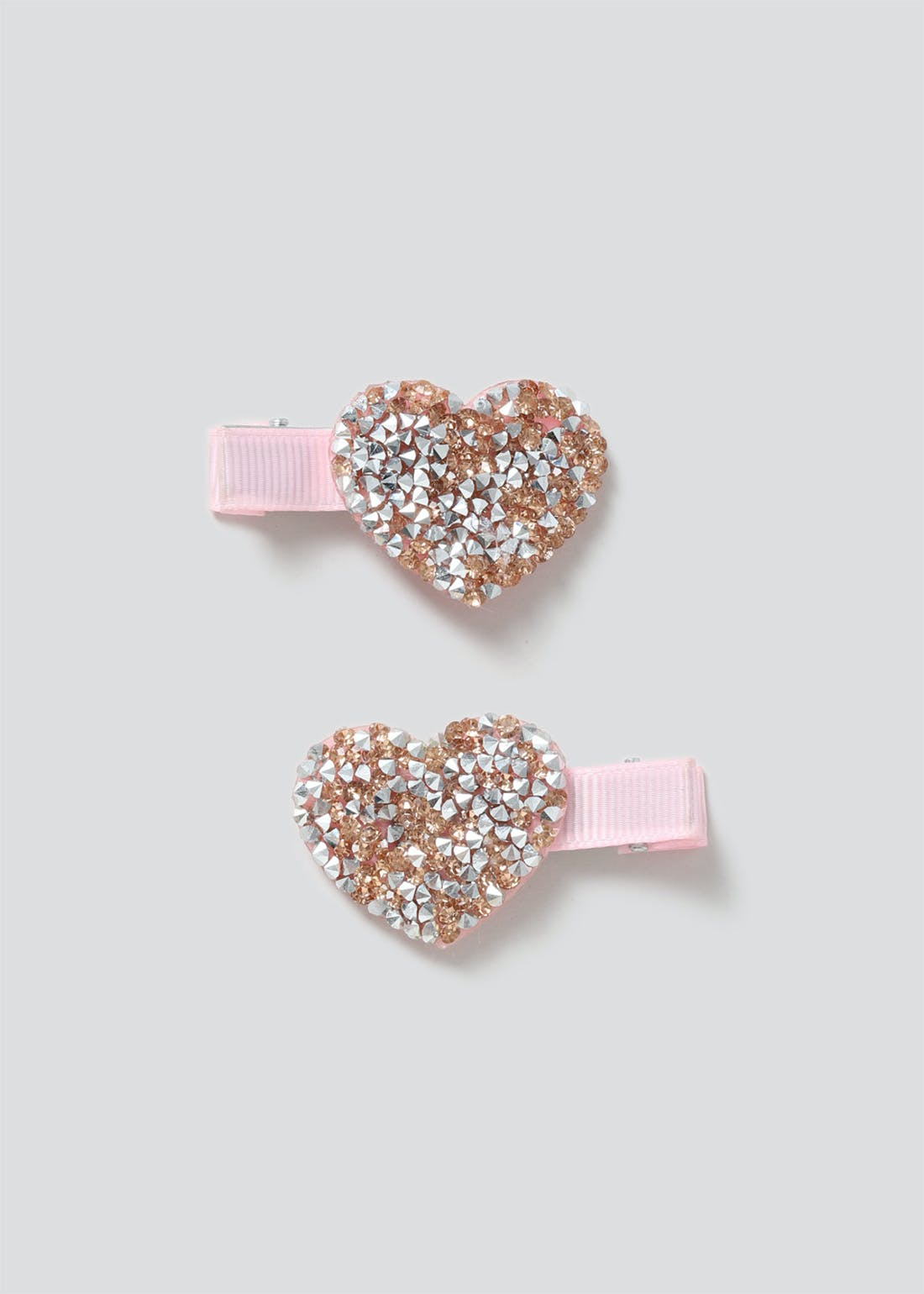 Girls Pink Heart Clips