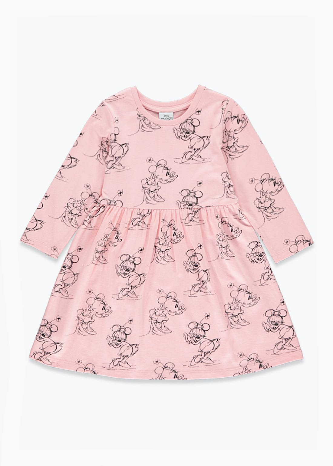 Girls Disney Minnie Mouse Long Sleeve Dress (9mths-7yrs)