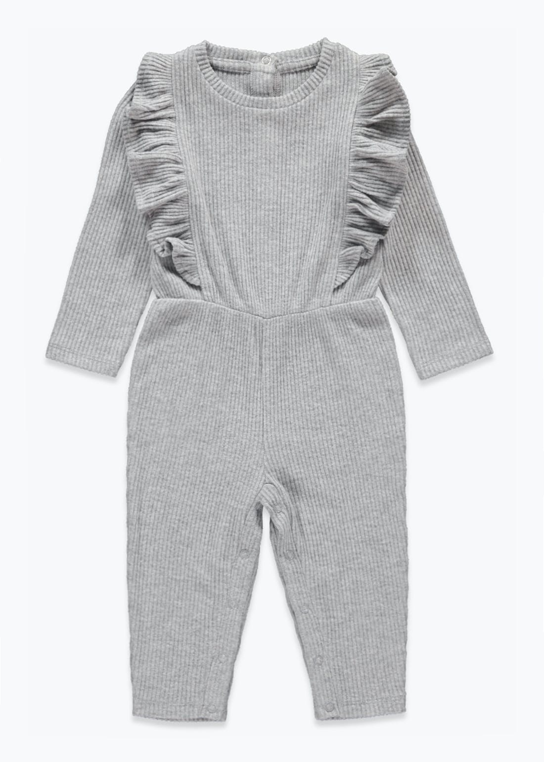 Girls Ribbed Snit Jumpsuit (9mths-6yrs)