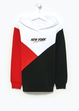 Boys New York Cut & Sew Hoodie (4-13yrs)