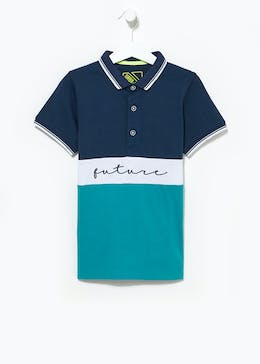 Boys Future Print Polo Shirt (4-13yrs)
