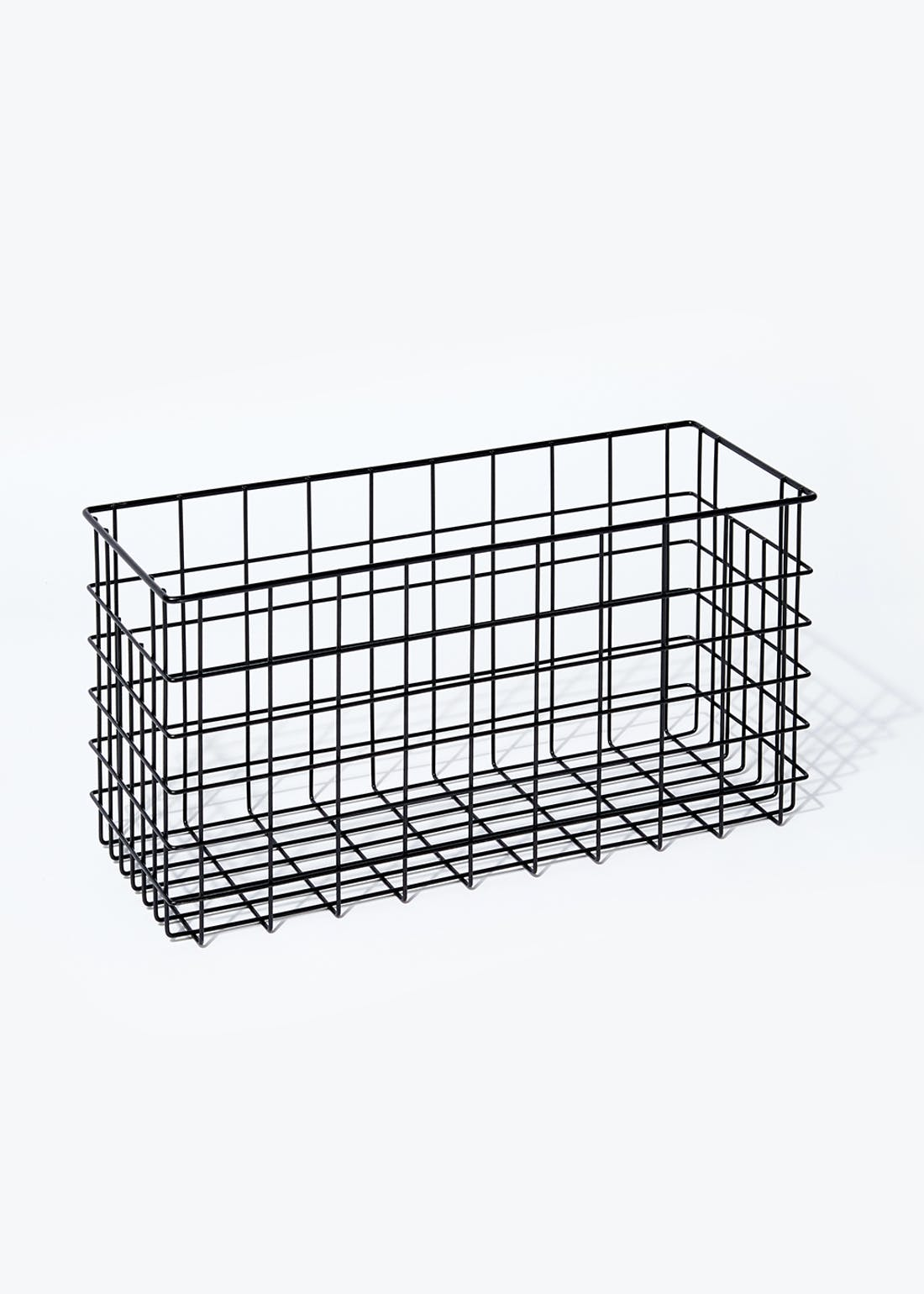 Slim Wire Storage Basket (40cm x 21cm)