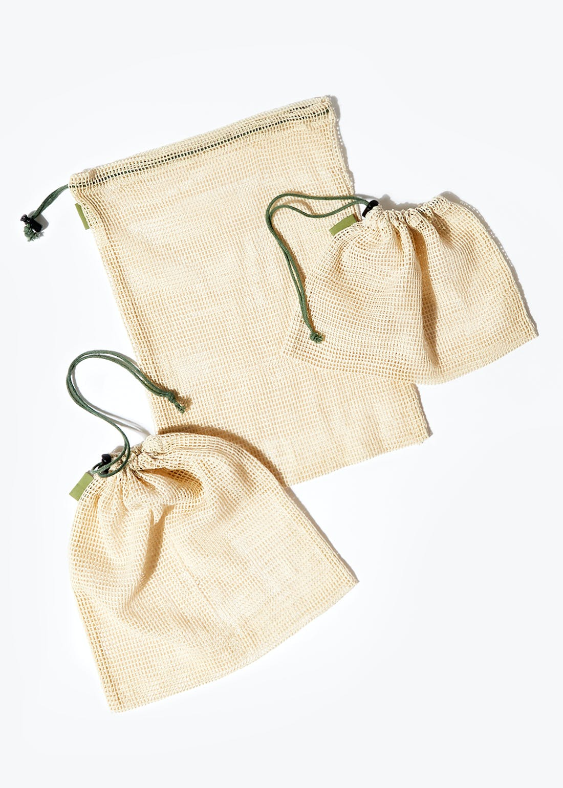 3 Pack Vegetable Storage Bags (38cm x 28cm)