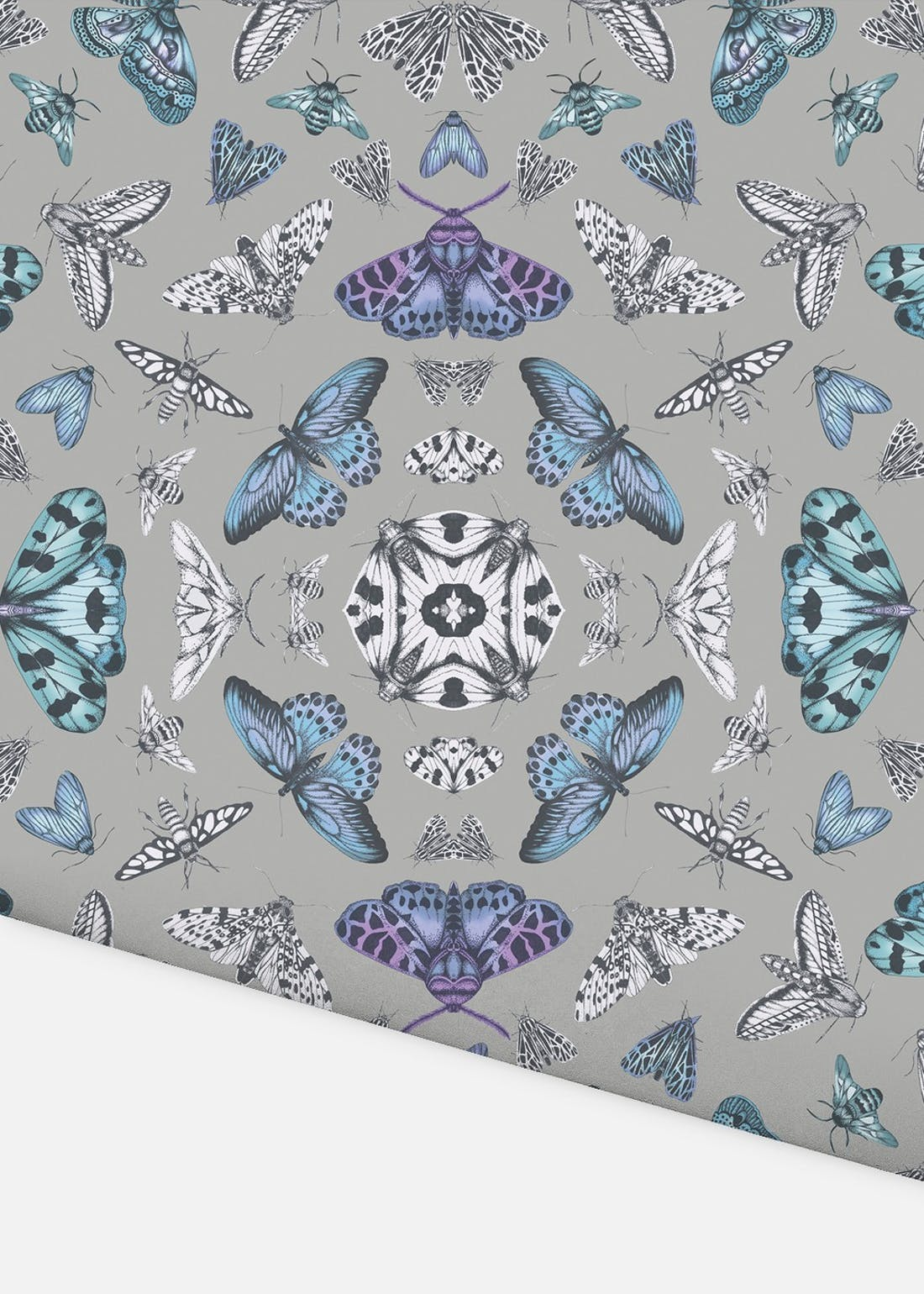 Arthouse Silver Glitter Bug Wallpaper (10.05m x 53cm)