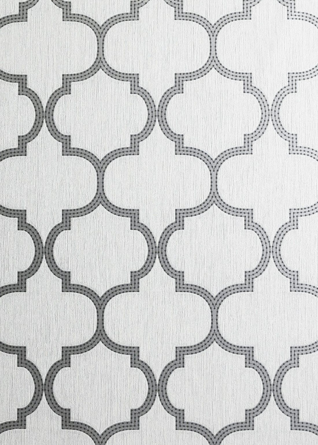 Arthouse Grey Beaded Trellis Vinyl Wallpaper (10.05m x 53cm)