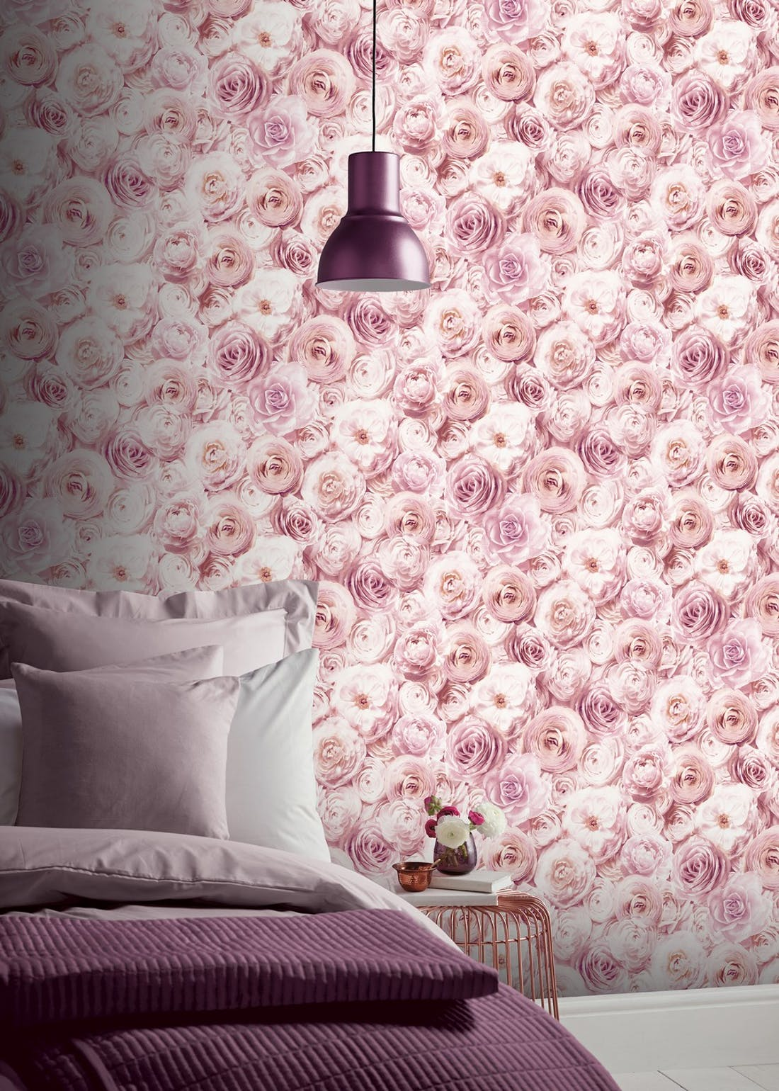 Arthouse Blush Pink Wild Rose Wallpaper (10.05m x 53cm)