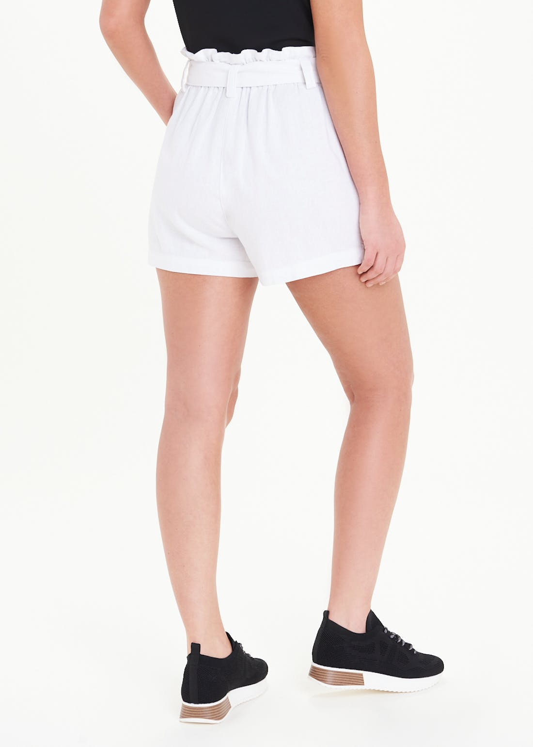 Button Paperbag Shorts