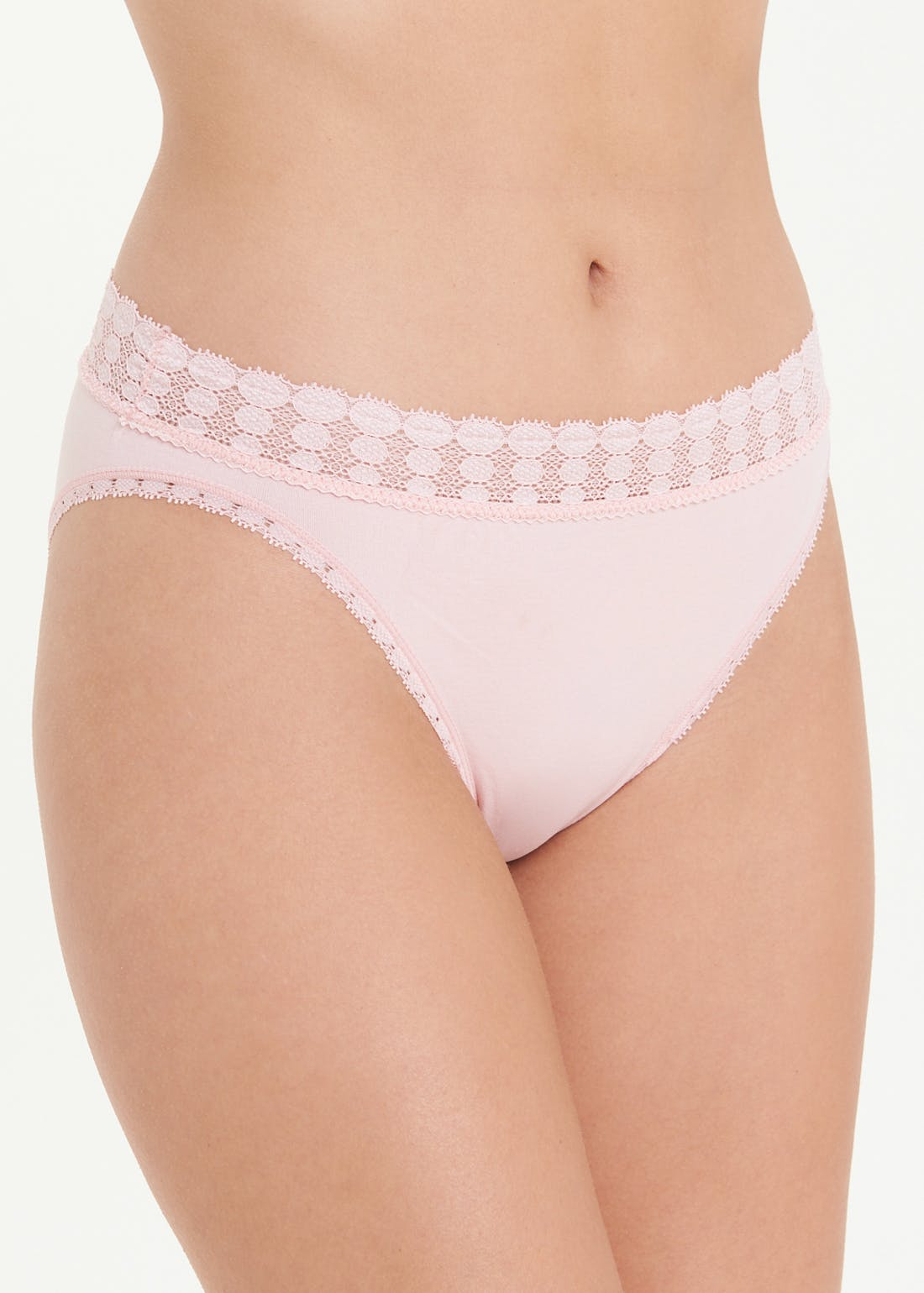3 Pack Spot Lace High Leg Knickers