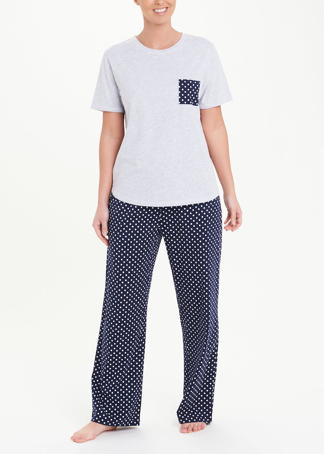 Anchor Wide Leg Pyjama Set