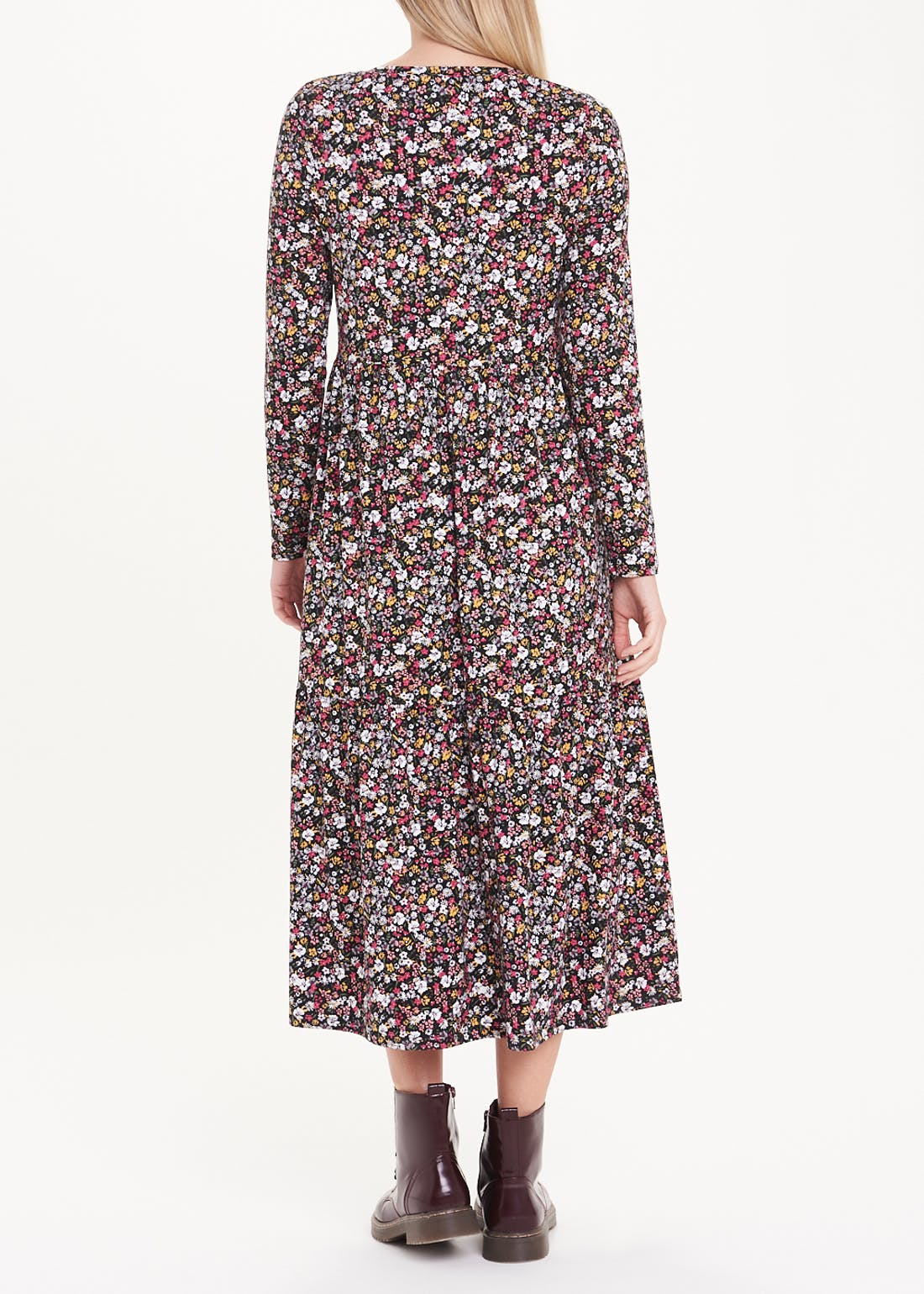 Super Soft Ditsy Floral Jersey Midi Dress