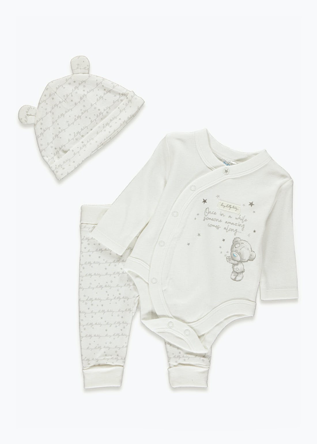 Tiny Tatty Teddy Baby Grow Gift Set (Newborn-9mths)