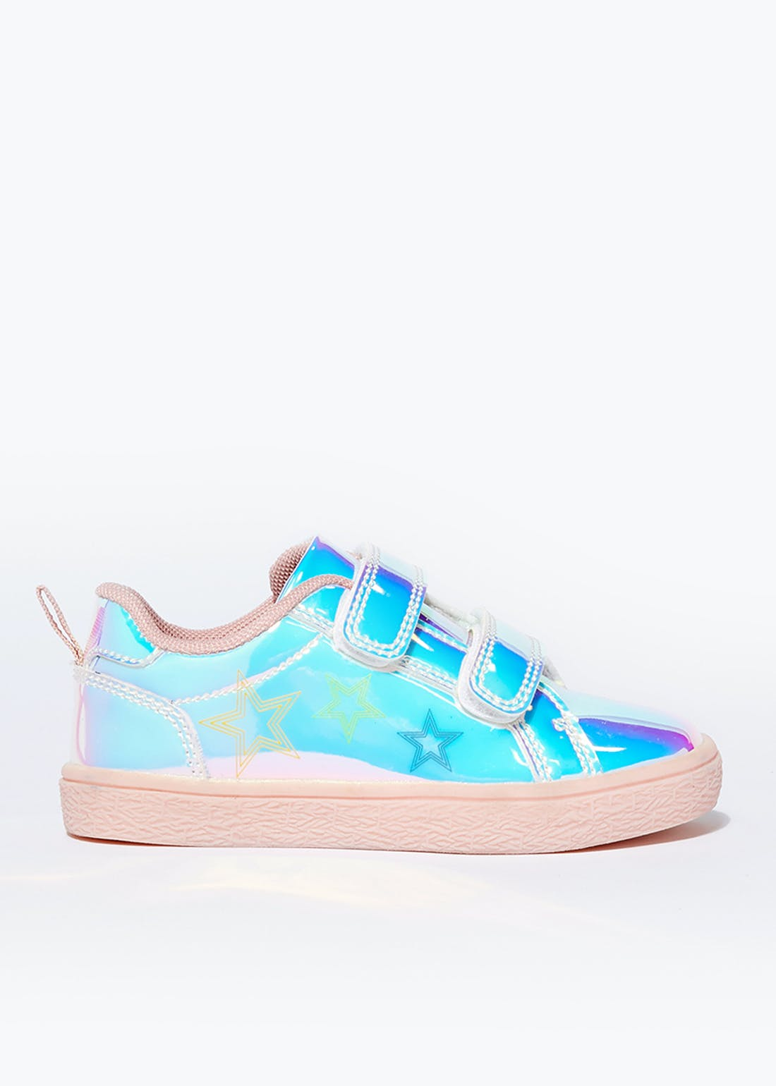 Girls Iridescent Riptape Trainers (Younger 4-12)