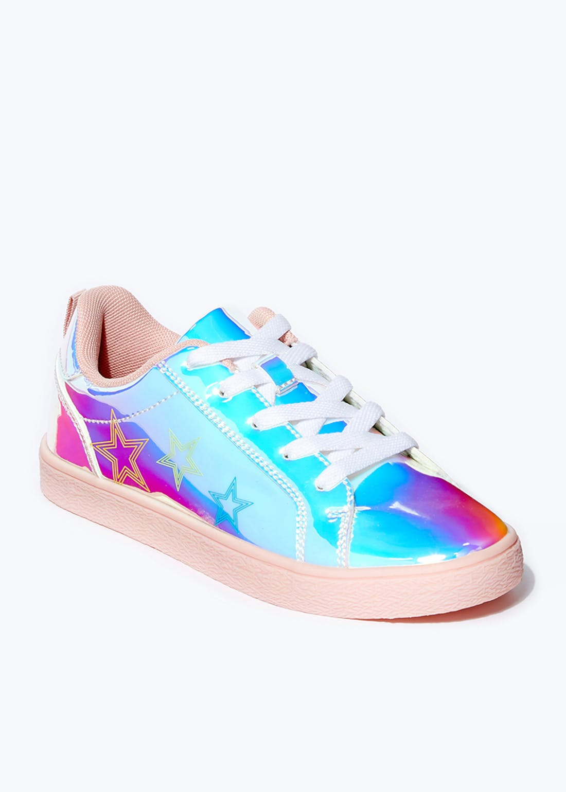 Girls Iridescent Riptape Trainers (Younger 10-Older 5)