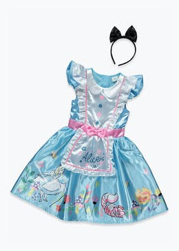 Kids Alice in Wonderland Fancy Dress Costume (3-9yrs)