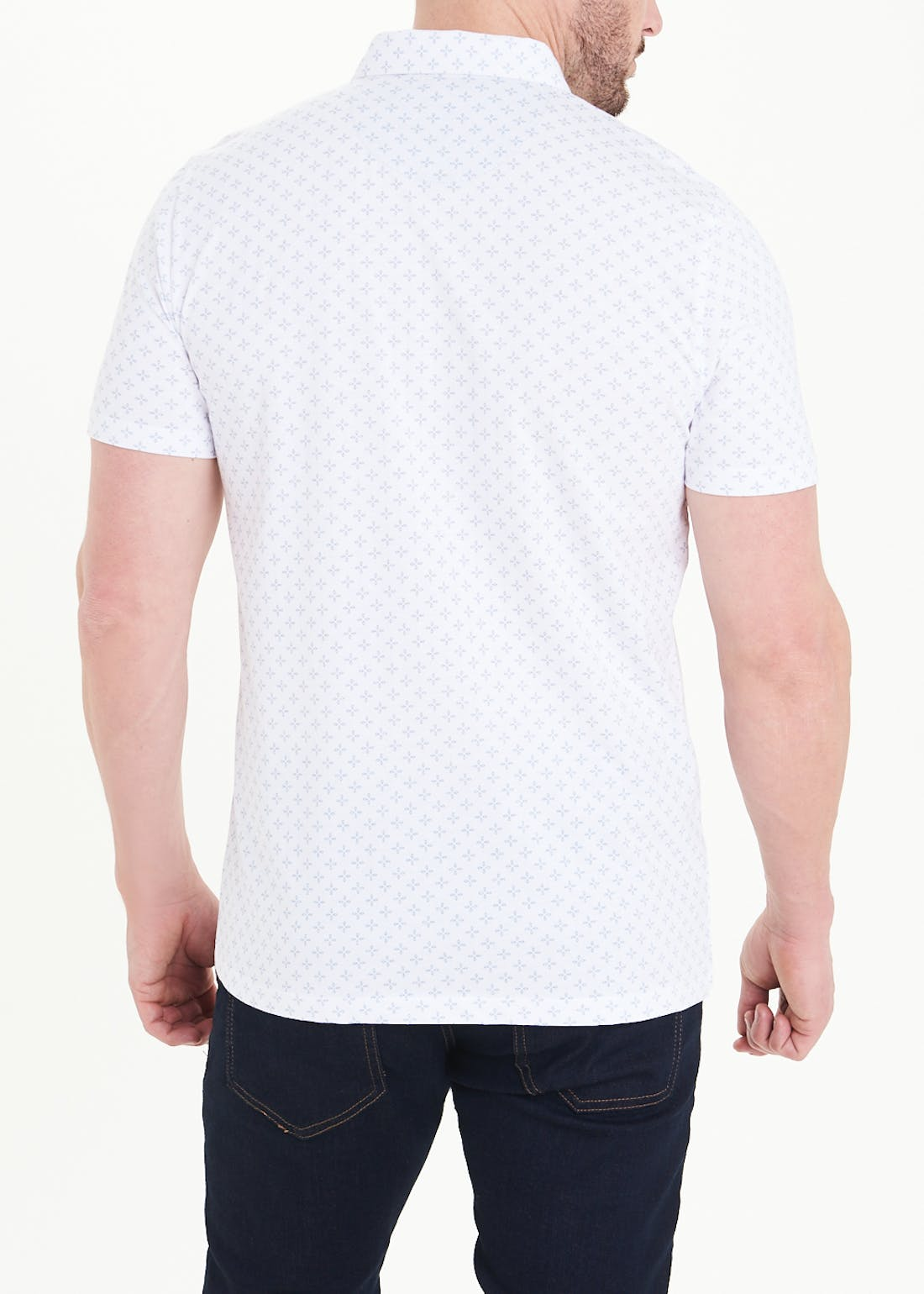 Cross Print Polo Shirt
