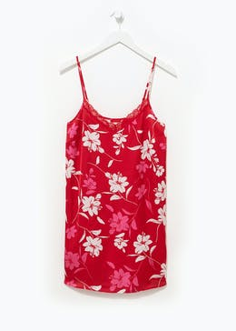 Floral Satin Chemise Nightdress
