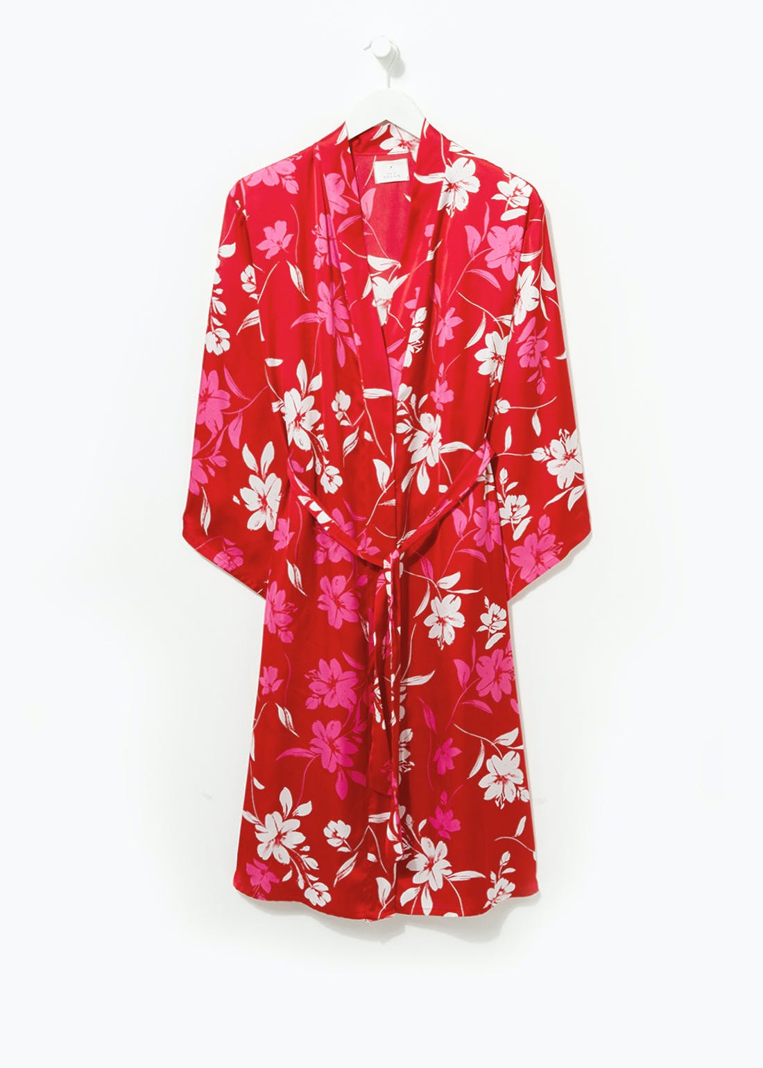 Floral Satin Dressing Gown