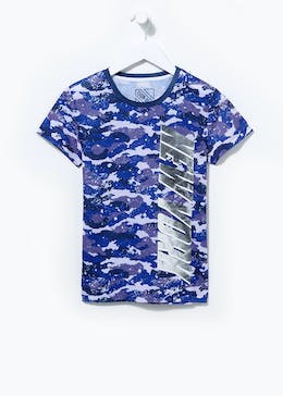 Boys Camo Print New York T-Shirt (8-16yrs)