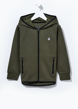 Boys Textured Zip Through Hoodie (4-13yrs)