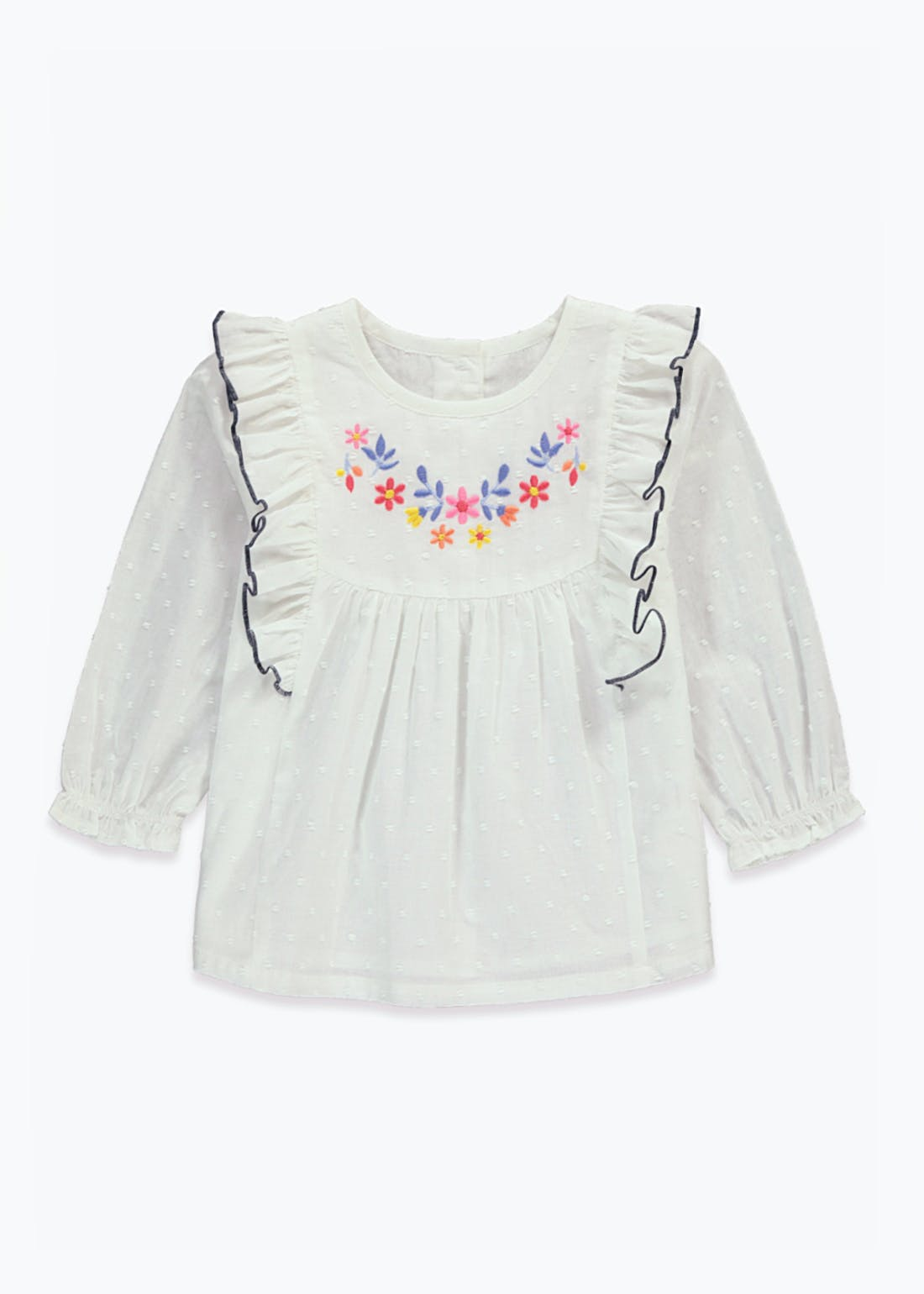 Girls Mini Me Embroidered Blouse (9mths-6yrs)