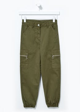 Girls Candy Couture Cuffed Cargo Trousers (9-16yrs)