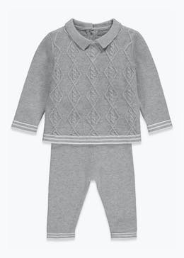 Boys Knitted Polo Set (Newborn-9mths)
