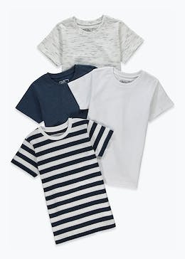 Kids 4 Pack T-Shirts (4-13yrs)
